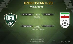 Список футболистов олимпийской сборной Узбекистана на товарищеские матчи против Ирана