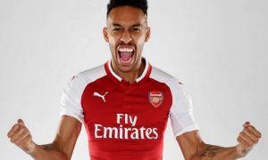 """Обамеянг Еврокубокларда хет-трик қайд этган """"Арсенал"""" тарихидаги биринчи футболчи бўлди"""