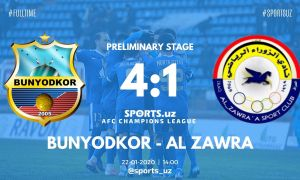 FC Bunyodkor down Al Zawraa Club to claim a spot in next week's play-off