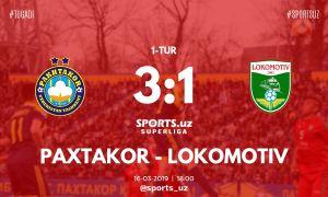 «Пахтакор» - «Локомотив» 3:1 (Видео)