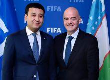 ФИФА президенти Умид Аҳмаджоновни янги лавозим билан табриклади