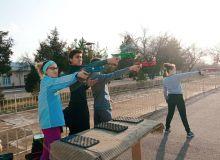 Сборная Узбекистана по современному пятиборью проводит УТС в Чирчике