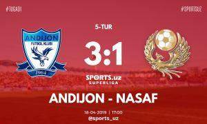 Суперлига: «Андижан» одолел «Насаф» и отпраздновал первую победу в сезоне