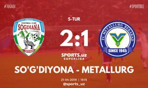 Match Highlights. FC Sogdiana 2-1 FC Metallurg