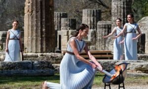 The Olympic Flame lighting ceremony of the Winter Games in Beijing took place in Greece