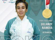 Гулжаной Наимова – Токио-2020 ёзги Паралимпия ўйинлари чемпиони!
