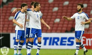 Photo Gallery. Uzbekistan earn a 3-1 win over Singapore
