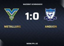 Контрольный матч: «Металлург» - «Андижан» 1:0