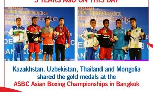 5 years ago – Kazakhstan, Uzbekistan, Thailand shared gold medals at 2015 ASBC Asian Boxing Championships