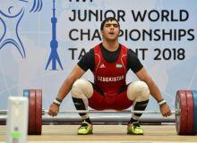 Джураев Акбар обновил мировой рекорд среди молодежи и завоевал золотую медаль в рывке