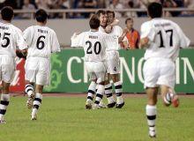 Кубок Азии-2004: Миржалол Касымов на 58-й минуте забил гол в ворота сборной Туркменистана