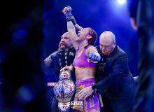 UFCни тарк этган Крис Сайборг Bellator чемпионига айланди (Видео)