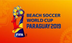 Бахтиёр Намазов работает на Чемпионате мира по пляжному футболу