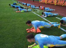 Первая тренировка сборной Узбекистана U-21 в Китае
