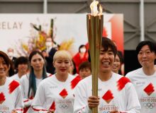 В Японии стартовала эстафета Олимпийского огня Токио-2020