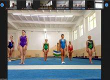 Прошло онлайн-соревнование по спортивной гимнастике
