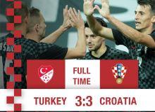Туркия - Хорватия баҳсида кучлар тенг келди - 3:3