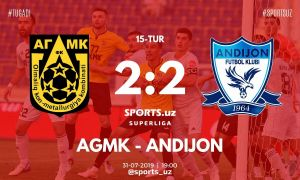 FC AGMK escape from a defeat to FC Andijan in Almalyk