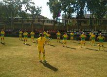 Первая тренировка женской молодёжной сборной в Коломбо.