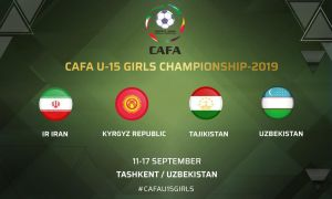 Tashkent to host Central Asian Football Association U-15 Girls Championship 2019 in September