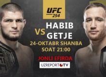"""UzReport """"UFC 254"""" turnirining translyatsiya huquqini xarid qildi (Video)"""