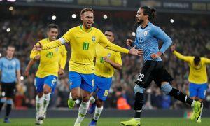 Бразилия - Уругвай 1:0 (видео)