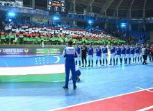 Состав сборной Узбекистана по футзалу на УТС в Ташкенте.