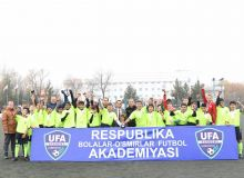 Tashkent city claim U-14 UFA Cup title winning final match against Namangan region