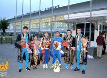 Торжественная встреча партаэквондистов Узбекистана