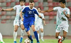 Uzbekistan play a goalless draw with Iraq a friendly match in Jordan