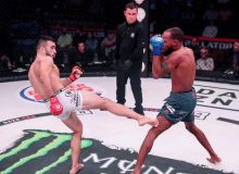 Watch Zarrukh Adashev's TKO win over Tevin Dyce in Bellator