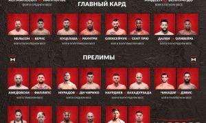 UFC Fight Night 160 турнирининг барча натижалари билан танишинг