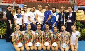 Наши гимнастки завоевали восемь медалей