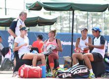 Теннисисты Узбекистана провели тренировку в Палембанге