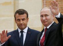 Путин Макронни Франция терма жамоасининг финалга чиққани билан табриклади