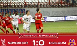 Единственный гол «Навбахора» принёс победу над «Кызылкумом» (Видео)