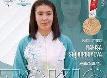 Наша пара-дзюдоистка Нафиса Шерипбаева стала бронзовым призёром!
