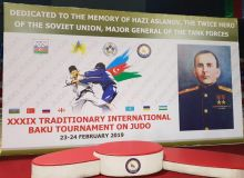 Uzbekistan 8-athlete judo team start their participation at Hazi Aslanov Memorial Judo Tournament in Baku