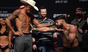 UFC жангчиси безорининг таъзирини берди (видео)