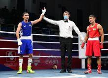 Youth Olympic Champion Abdumalik Khalakov showed summersaults as his victory celebration at the Uzbekistan Elite National Championships on Day4