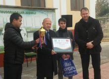 Қирғизистонлик таниқли ҳакам Андижондаги футбол мактабига ташриф буюрди