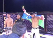 Nursultan Ruziboev knocks out Robert Lee at the Grand Prix Kazakhstan