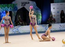 Наши гимнастки завоевали серебро на этапе Кубка мира в групповых упражнениях