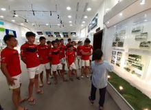 Команда «Нархоз» из Казахстана, участвующая в турнире «Келажак сари», посетила стадион «Миллий»