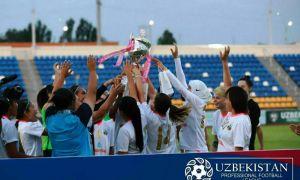 """Первый """"дубль"""" в истории женского Суперкубка Узбекистана."""