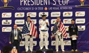 Таэквандочимиз Лас-Вегасдаги турнирда олтин медални қўлга киритди