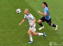 Россия сўнгги турда Уругвайга йирик ҳисобда мағлуб бўлди