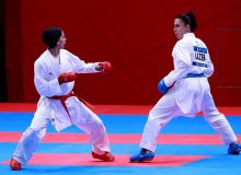 Uzbekistan's Barno Mirzaeva picks up bronze medal in Asian Games Women's Karate
