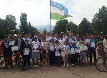 В Ташкентской области прошёл веломарафон