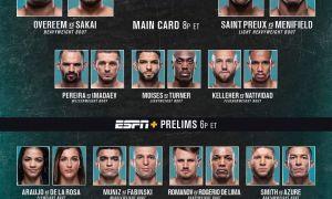 """""""UFC Vegas 9"""" турнирининг барча натижалари билан танишинг!"""